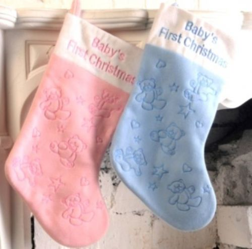 Stocking Decorated Baby's 1st Christmas Xmas Festive Seasonal Nativity